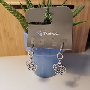 FREE🌟 NWT rose dangly earrings reitmans